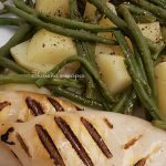 Grilled Squids with Potatos and Green Beans Salad