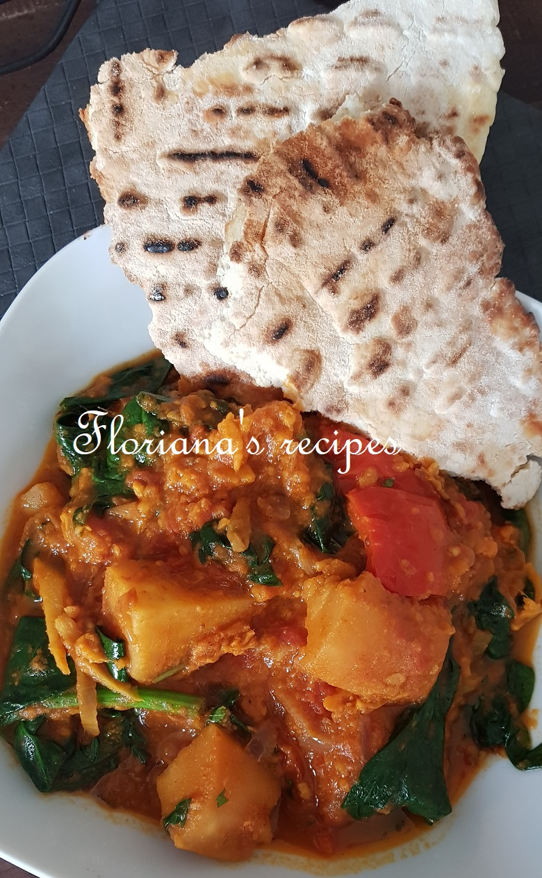 Parsnip and Sweet Potatoes Curry